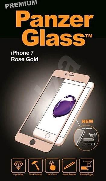 PanzerGlass Premium pro Apple iPhone 7/8 růžové zlato - Ochranné sklo