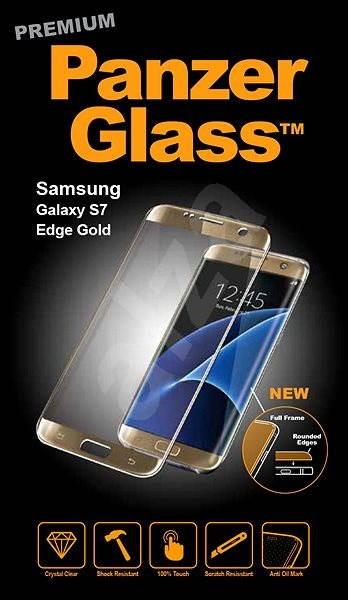 PanzerGlass Premium pro Samsung Galaxy S7 edge zlaté - Ochranné sklo ... 53d0b724ef6