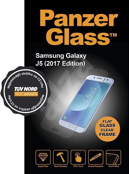 PanzerGlass Edge-to-Edge pro Samsung Galaxy J5 2017 černé  - Ochranné sklo