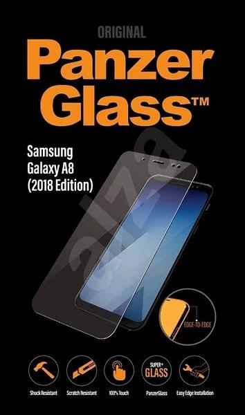 PanzerGlass Edge-to-Edge pro Samsung Galaxy A8 Plus (2018) čiré  - Ochranné sklo