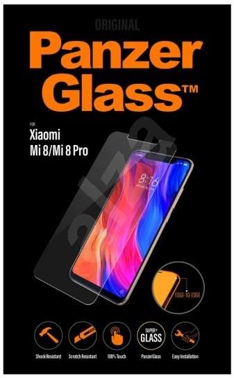 PanzerGlass Edge-to-Edge pro Xiaomi Mi 8/Mi 8 Pro čiré - Ochranné sklo