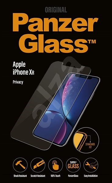 PanzerGlass Standard Privacy pro Apple iPhone XR čiré - Ochranné sklo