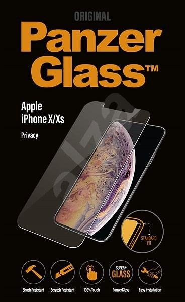 PanzerGlass Standard Privacy pro Apple iPhone X/XS čiré - Ochranné sklo