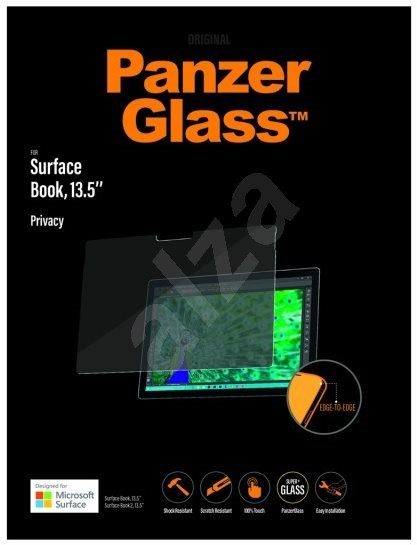 "PanzerGlass Edge-to-Edge Privacy pro Microsoft Surface Book/Book 2, 13.5"" - Ochranné sklo"