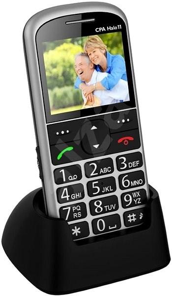 CPA Halo 11 Senior stříbrný - Mobilní telefon