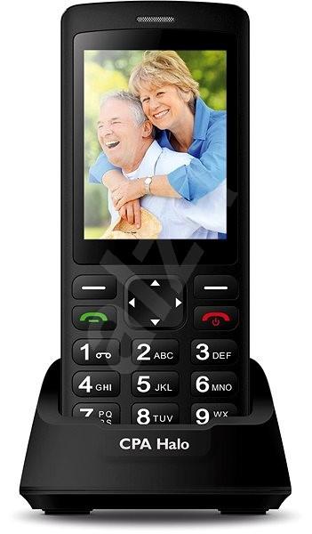 CPA Halo Plus Senior Černý - Mobilní telefon