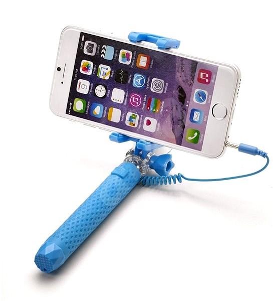 CELLY Mini selfie light blue - Selfie tyč