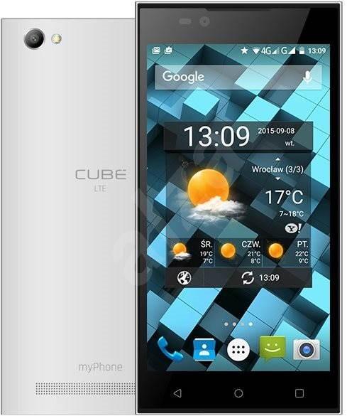 MyPhone CUBE LTE bílý - Mobilní telefon