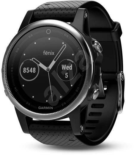 Garmin Fenix 5S Silver Optic Black band - Chytré hodinky  e21bd89278