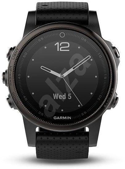 b283aede8 Garmin Fenix 5S Sapphire Gray Optic Black band - Chytré hodinky ...