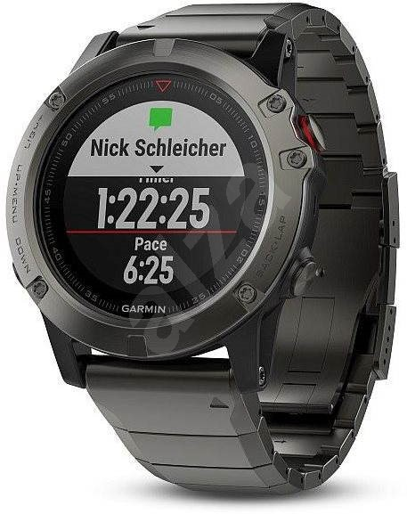 Garmin Fenix 5X Sapphire Gray Optic Metal band - Chytré hodinky