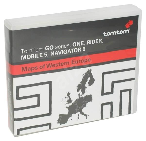 Mapy pro navigační software TomTom ČR západní Evropa, Polsko na CD - Mapové podklady