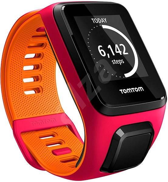 TomTom Runner 3 Cardio (S) růžovo-oranžový - Sporttester