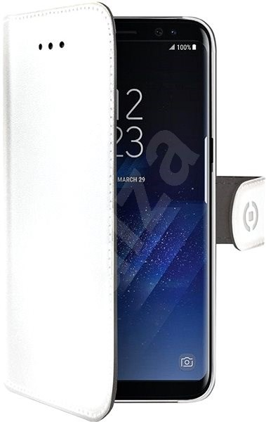 CELLY Wally pro Samsung Galaxy S9+ bílé - Pouzdro na mobilní telefon