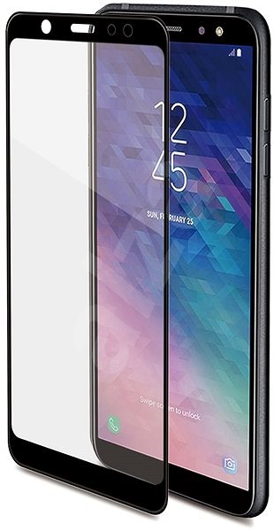 CELLY 3D Glass pro Samsung Galaxy A6 Plus (2018), černé - Ochranné sklo