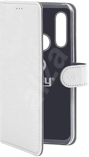 CELLY Wally pro Huawei P30 Lite PU kůže bílé - Pouzdro na mobilní telefon