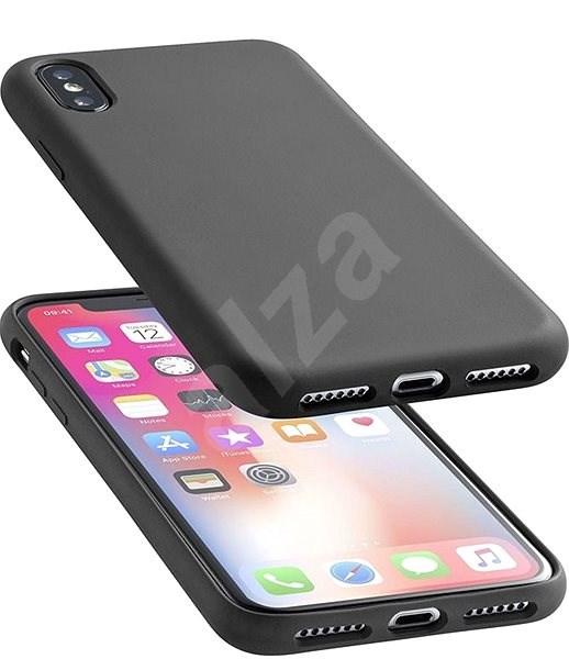 CellularLine SENSATION pro Apple iPhone XS Max černý - Kryt na mobil