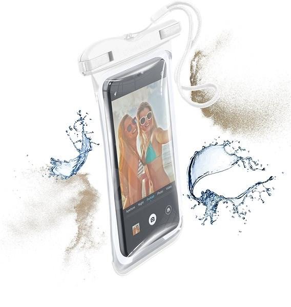 Cellularline VOYAGER 2019 bílé - Pouzdro na mobilní telefon