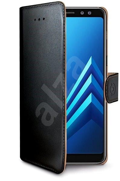 CELLY WALLY pro Samsung Galaxy A8 (2018) černé - Pouzdro na mobilní telefon