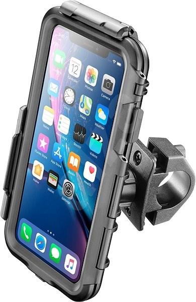 CELLULARLINE Interphone pro Apple iPhone XR, úchyt na řídítka, černé - Pouzdro na mobilní telefon