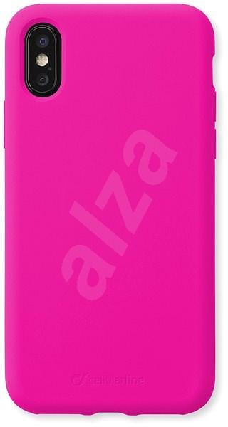 CellularLine SENSATION pro Apple iPhone XS Max růžový neon - Kryt na mobil