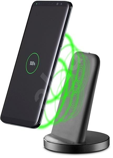 Cellularline WIRELESS FAST CHARGER STAND s USB-C 10W černý - Bezdrátová nabíječka