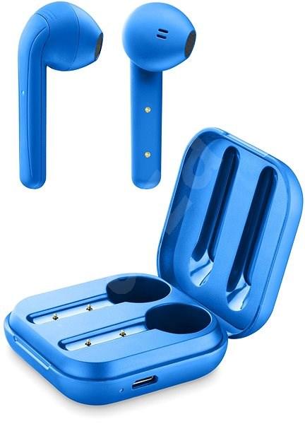 Cellularline Java s dobíjecím pouzdrem modrá - Bezdrátová sluchátka