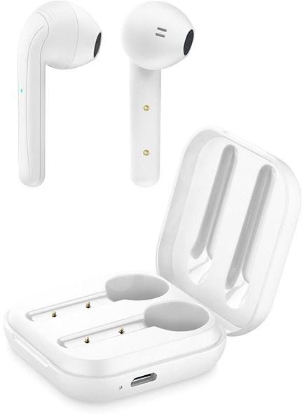 Cellularline Java s dobíjecím pouzdrem bílá - Bezdrátová sluchátka