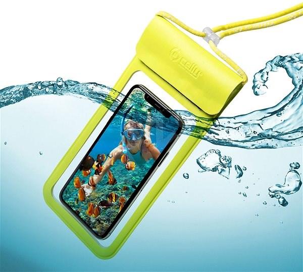 """CELLY Splash Bag 2019 pro telefony 6.5"""" žluté - Pouzdro na mobilní telefon"""