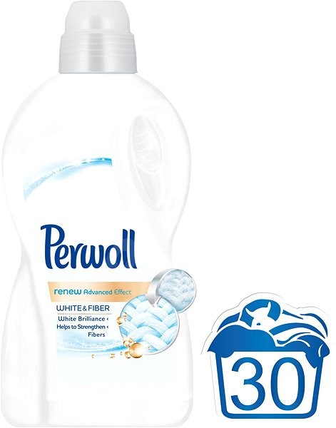 PERWOLL White & Fiber 1,8 l (30 praní) - Tekutý prací prostředek