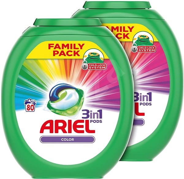 ARIEL Color All in 1 2 × 80 ks - Kapsle na praní