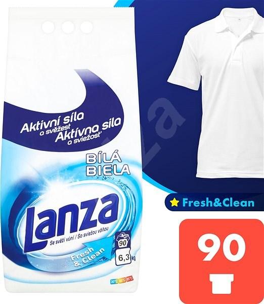 LANZA Fresh&Clean Bílá 6,3 kg (90 praní) - Prací prášek