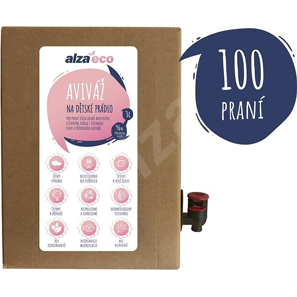 AlzaEco aviváž na dětské prádlo 3 l (100 praní) - Eko aviváž