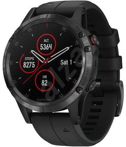 Garmin Fenix 5X Plus Pro Sapphire Black, Black Band - Chytré hodinky