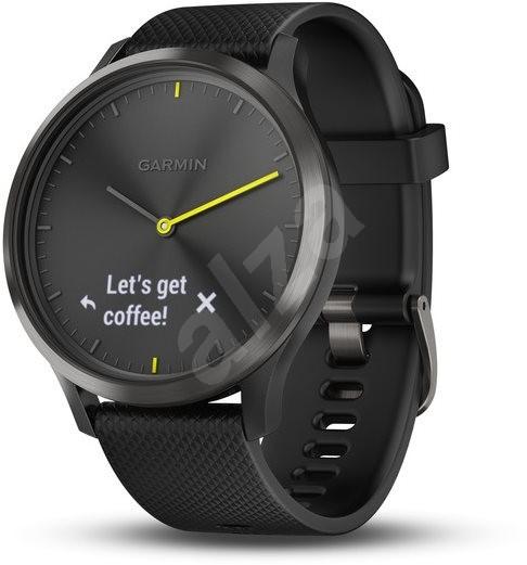 Garmin vívomove Optic Sport Black (velikost L) - Chytré hodinky