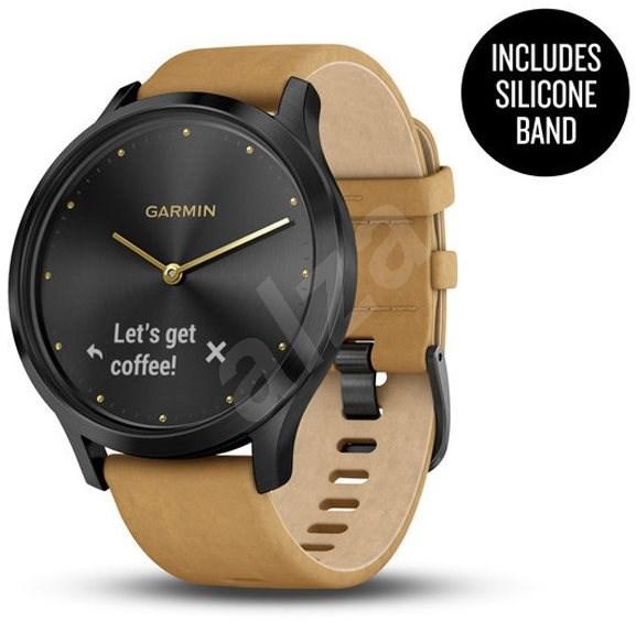 Garmin vívomove Optic Premium Onyx Black Tan Suede - Chytré hodinky