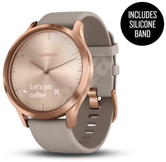 Garmin vívomove Optic Premium Rose Gold Gray Suede - Chytré hodinky