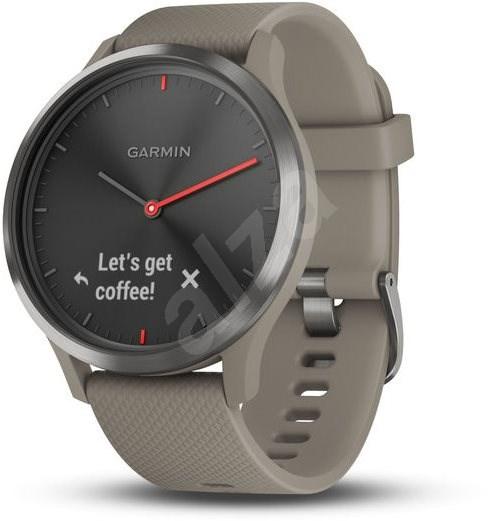 Garmin vívomove Optic Sport Black Sandstone - Chytré hodinky
