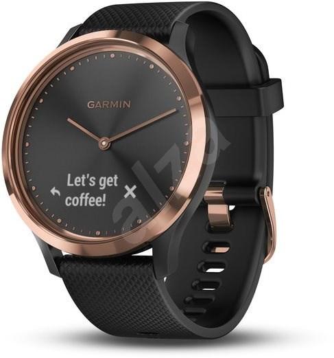 Garmin vívomove Optic Sport Rose Gold Black (velikost S/M) - Chytré hodinky
