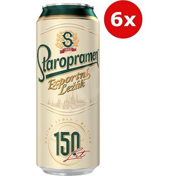 Staropramen Ležák 6X0,5L Plech - Pivo