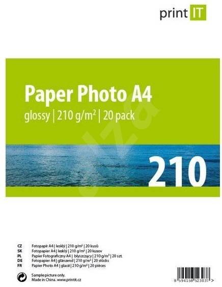 PRINT IT Paper Photo A4 210 g/m2 lesklý 20ks - Fotopapír