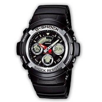 Casio G-SHOCK AW 590BL-1A - Pánské hodinky  fe2a5e7a323