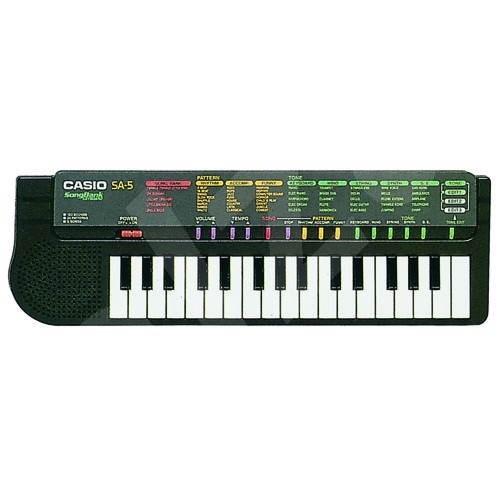 Casio SA 5 GY - Dětské klávesy