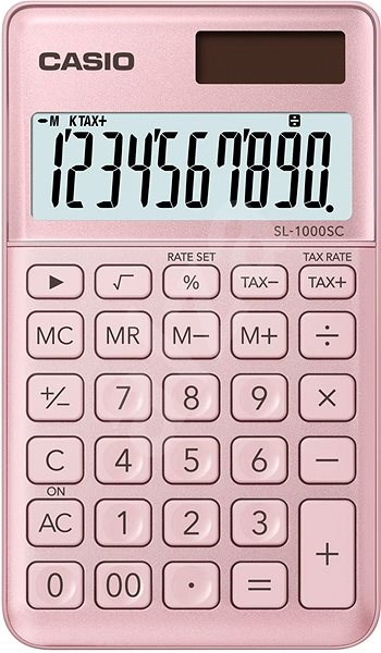 CASIO SL 1000 SC růžová - Kalkulačka