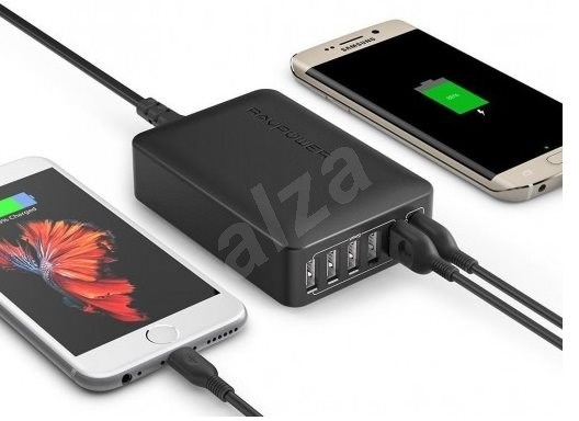 Ravpower Quick Charge 3.0 6-Port Wall Charger - Black - Nabíječka