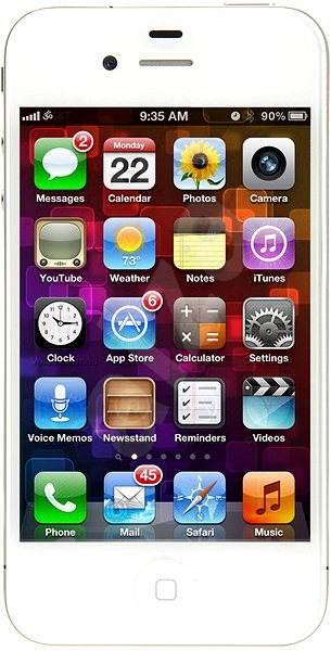 iPhone 4S 32GB bílý EU - Mobilní telefon