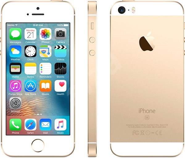 iPhone SE 16GB Zlatý - Mobilní telefon  ad5865e1146