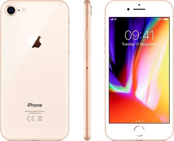 iPhone 8 128GB zlatá - Mobilní telefon
