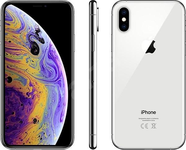 iPhone Xs 512GB stříbrná - Mobilní telefon