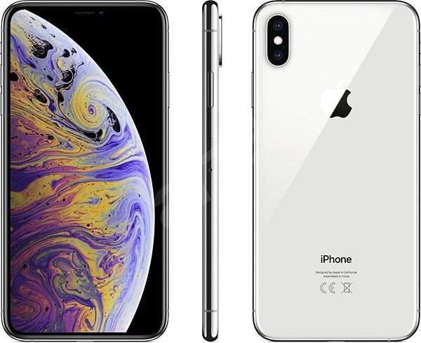 iPhone Xs Max 512GB stříbrná - Mobilní telefon
